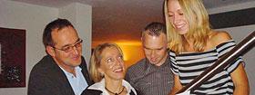 Gerd Weber und Bianca Seiz-Weber mit Konrad und Bettina Englisch